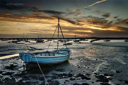 Dusk, Mersea Island, Essex