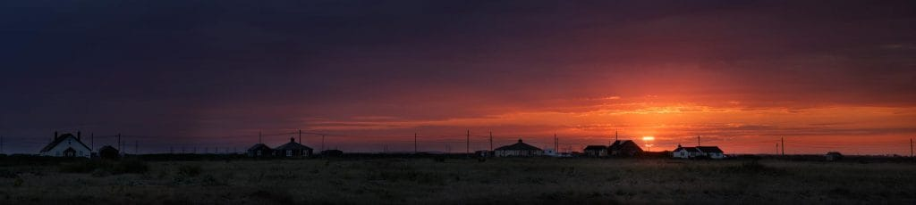 The village at dungeness,kent,england,uk