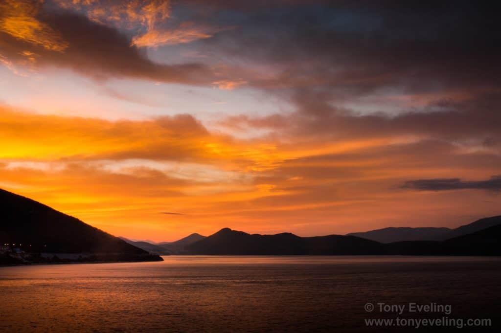 Croatian coastline at dawn