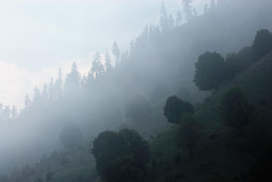Carpathian mountains at dawn, Romania