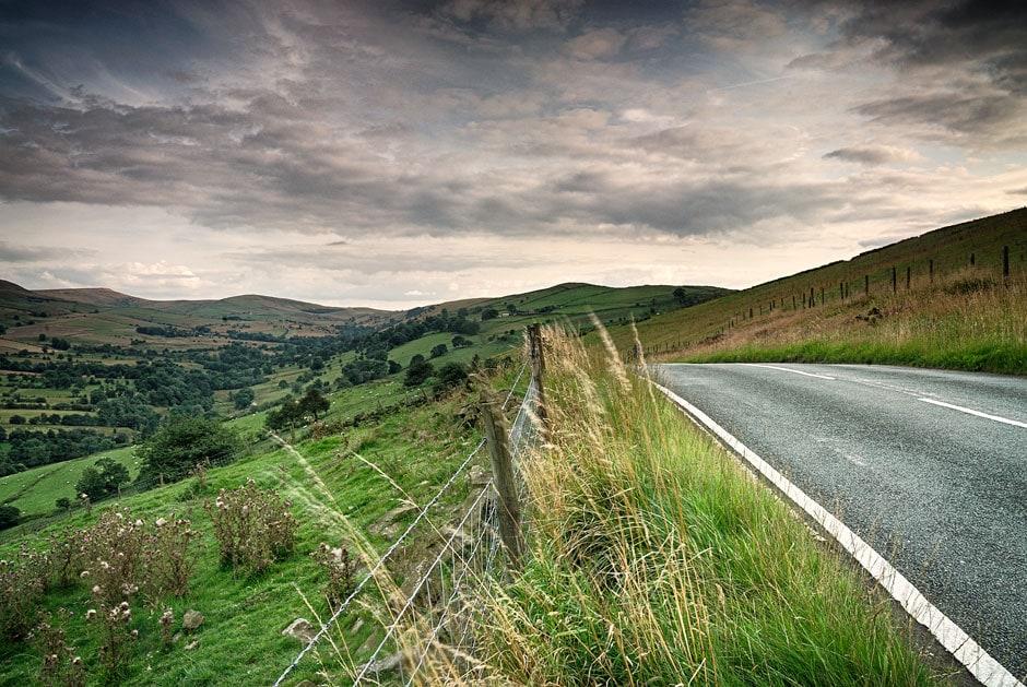 Countrylane in Derbyshire, England,UK
