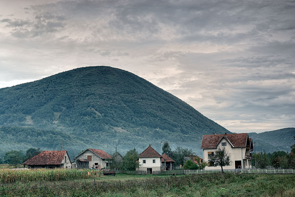 Houses near Ivanjica, Serbia