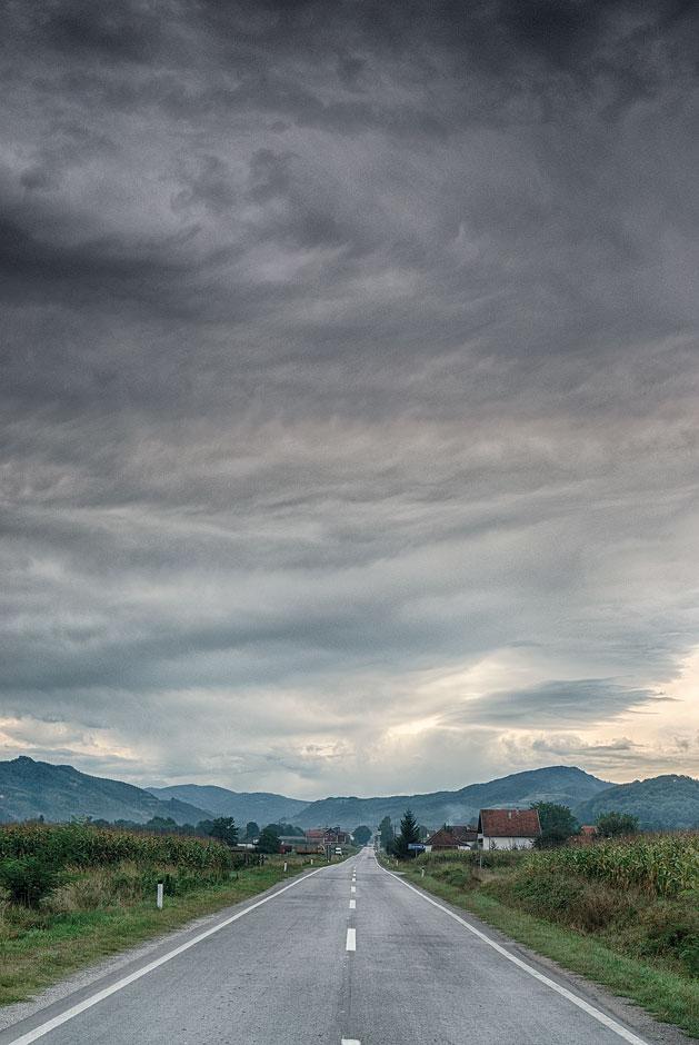 Road towards Ivanjica, Serbia