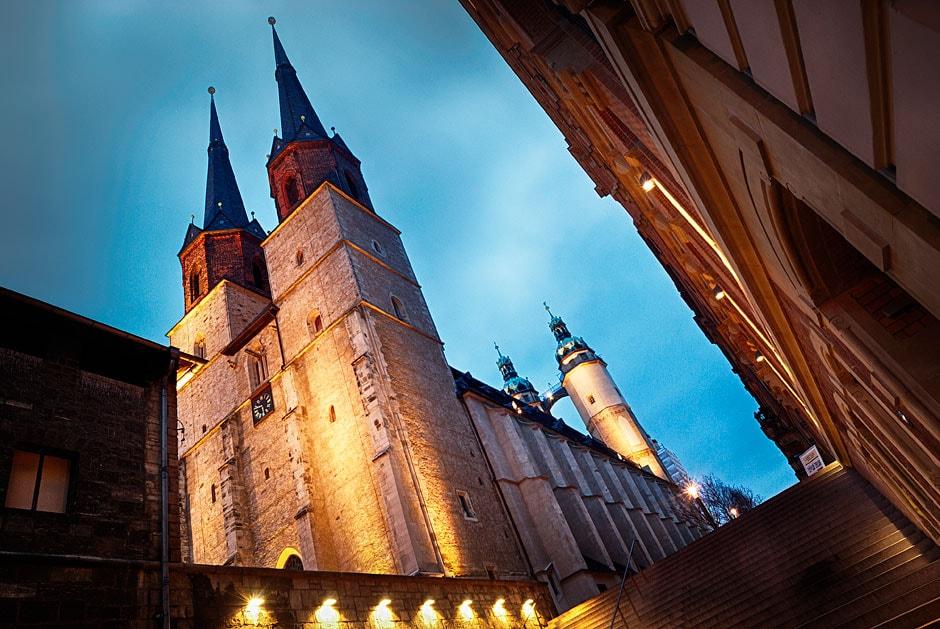 Marktkirche - Market church, in Halle. Germany