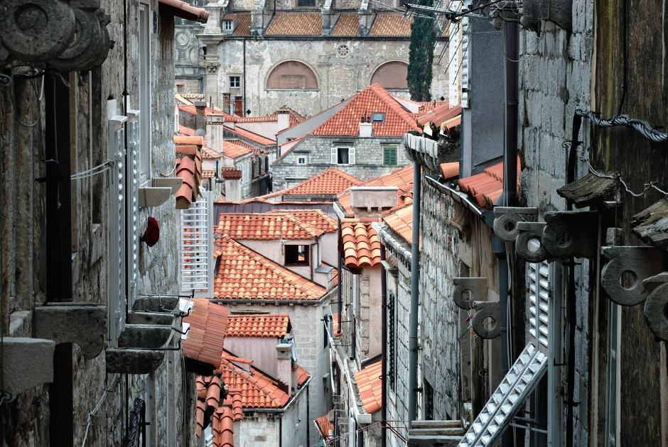 Terracotta rooftops, Dubrovnik old town, Croatia
