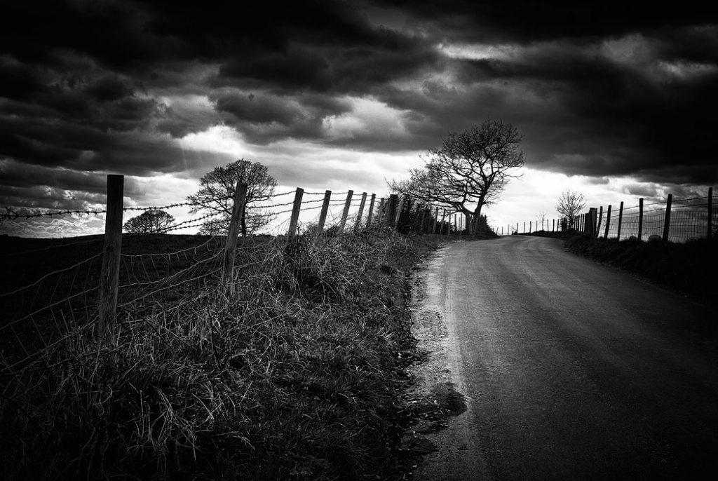 Countrylane near Canterbury, Kent, England, UK