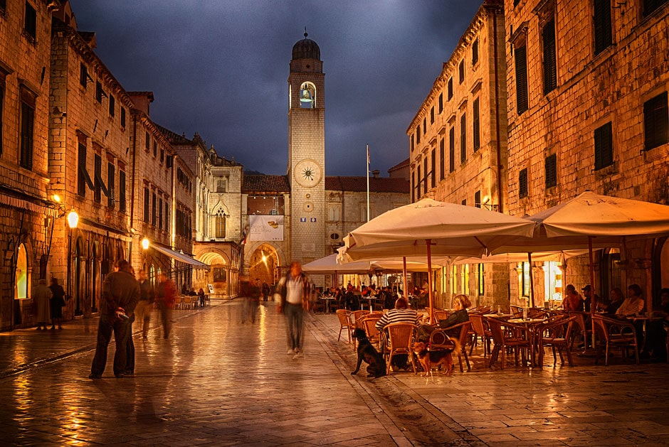 Placa, Dubrovnik at night, Croatia