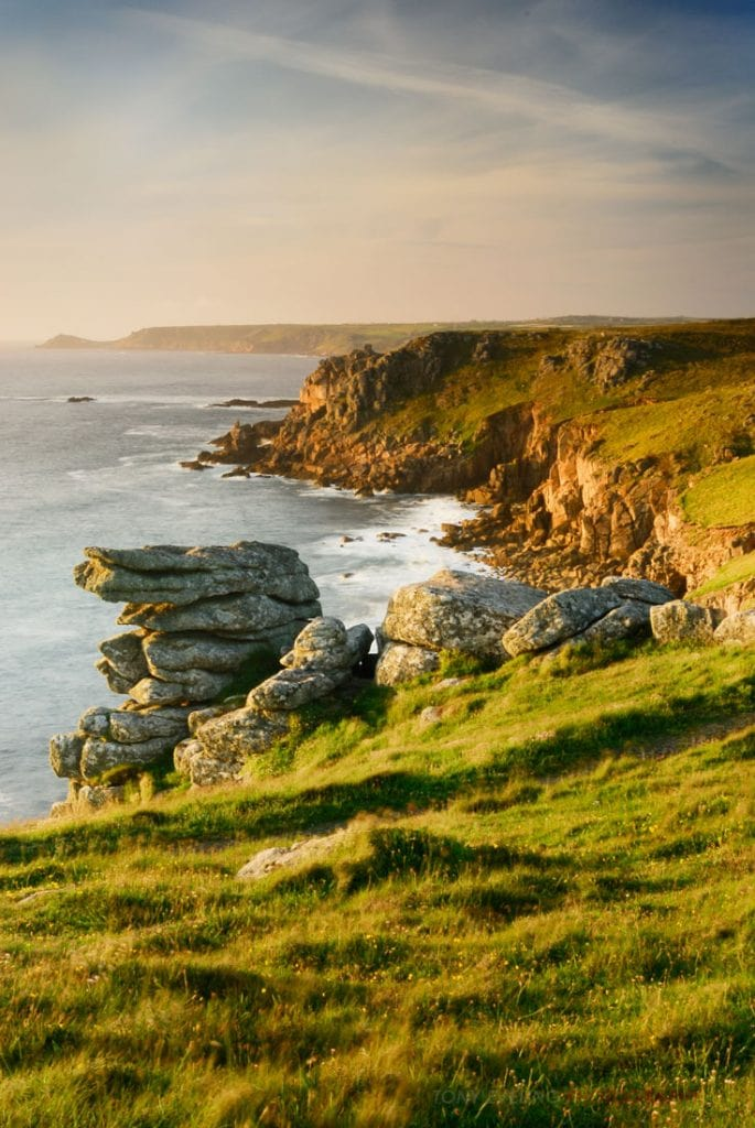 Rugged coastline, near Lands End, Cornwall, England, UK