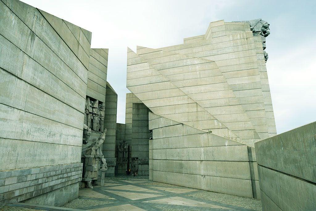 Communist monument, Shumen, Bulgaria