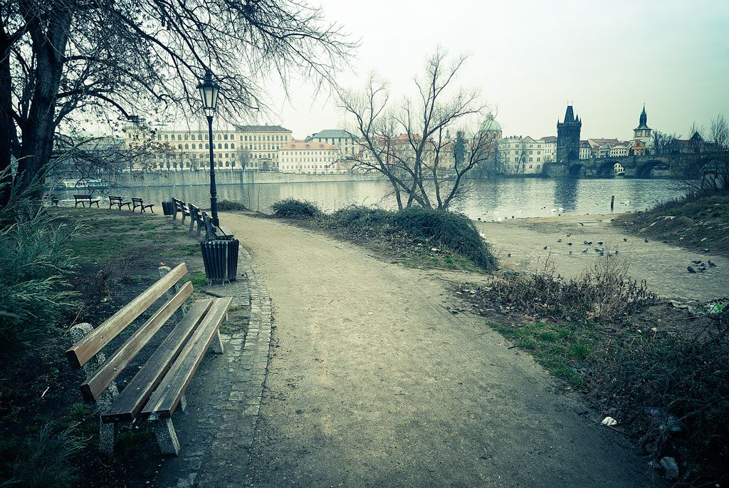 Park bench, Prague