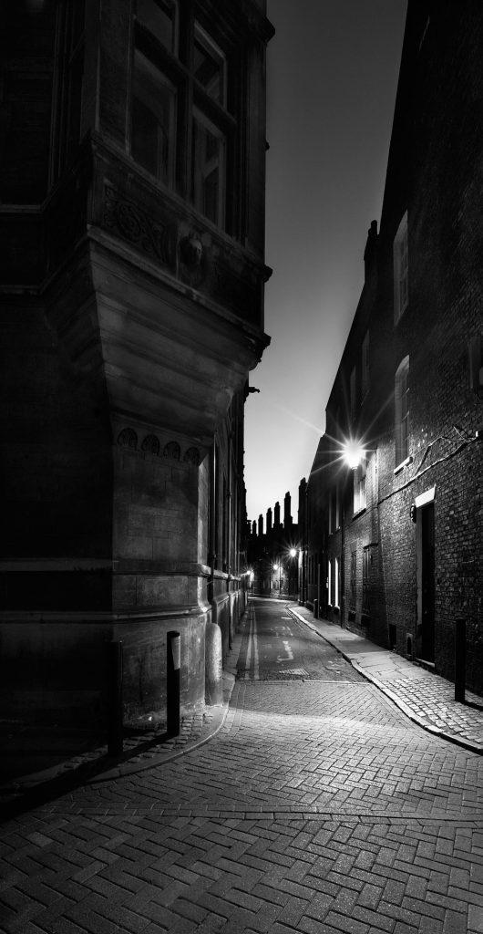 Black and White conversion, Trinity Lane, Cambridge, Cambridgeshire,England,UK