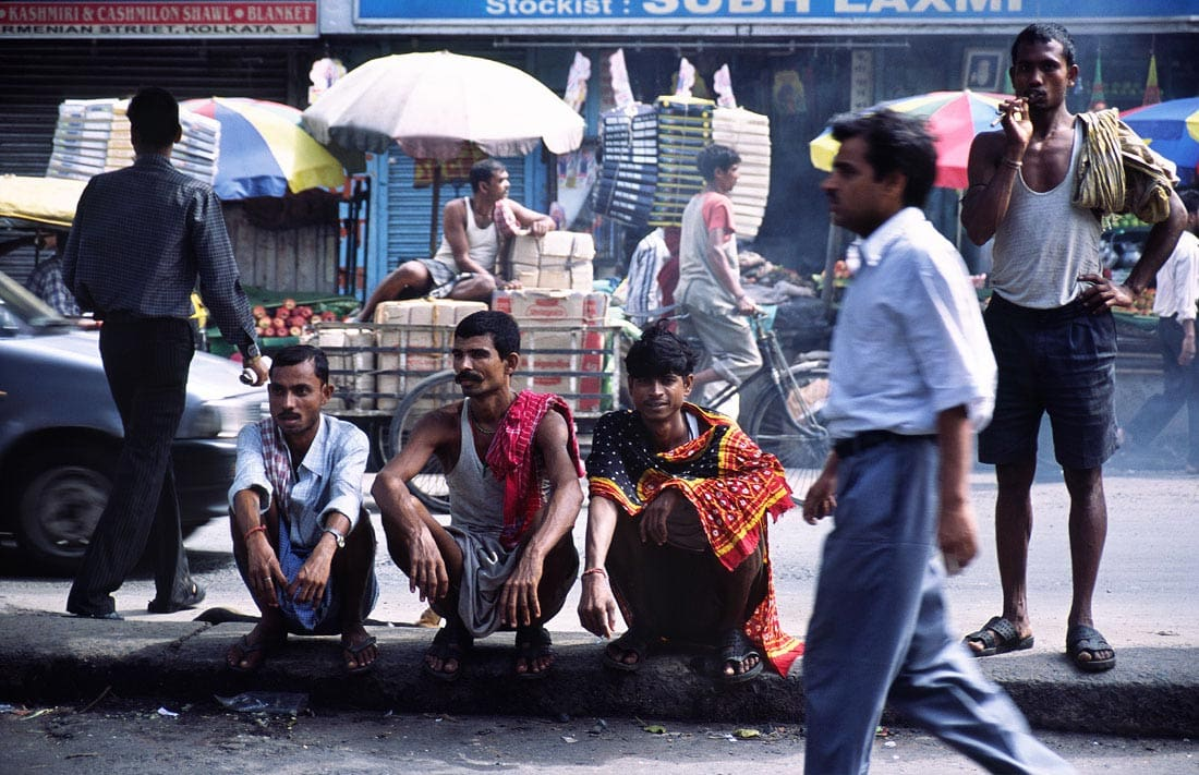 Men in the street, Kolkata, West Bengal, India