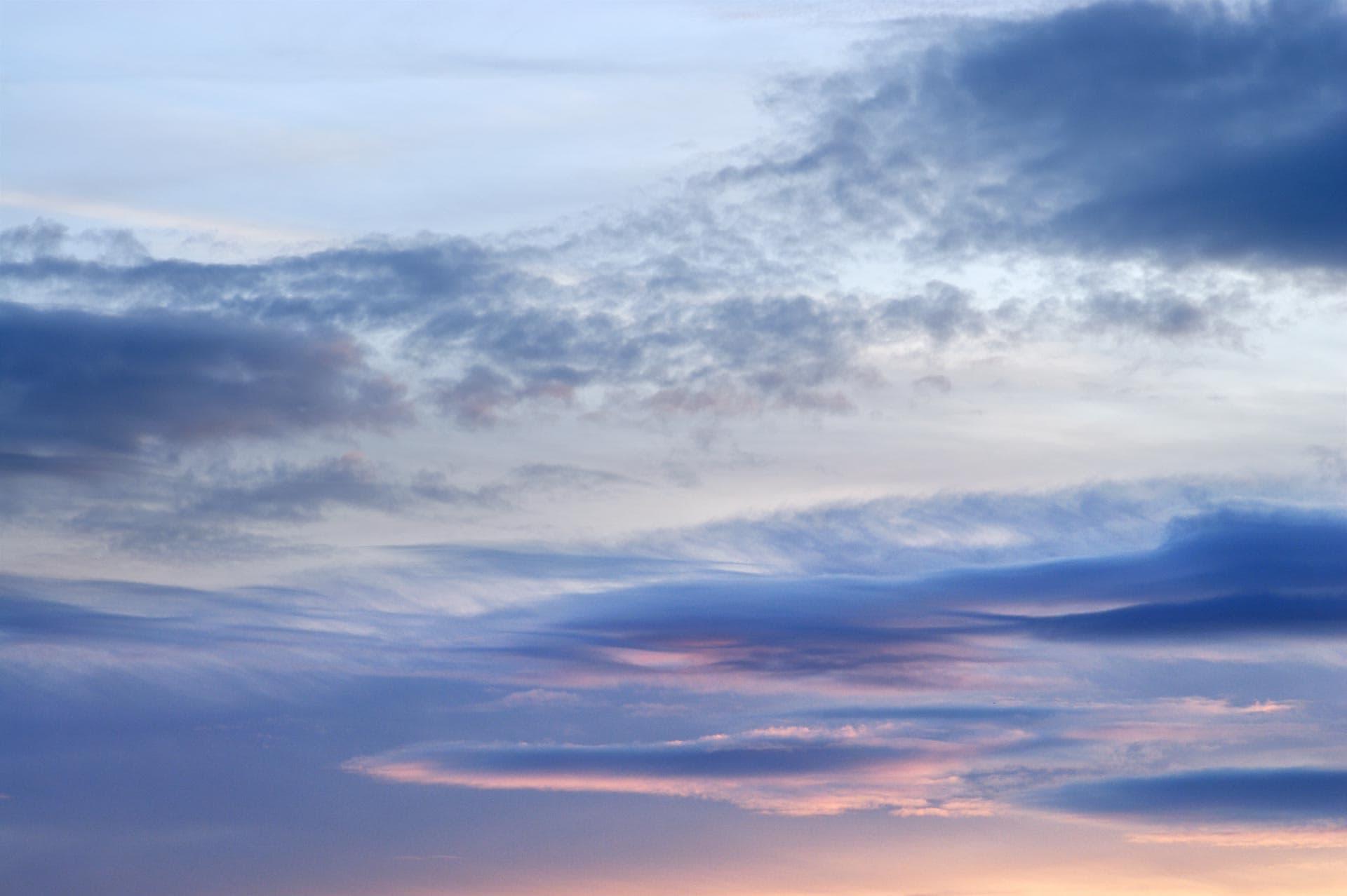 Evening skies over North Norfolk, near Sandringham, England, UK