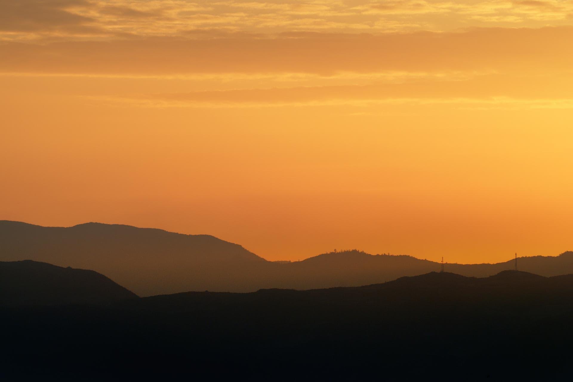 View across Lake ohrid, Macedonia to the mountains of Albania