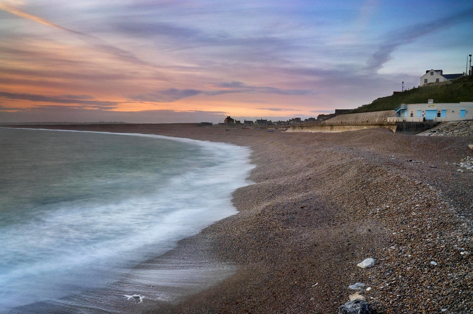 The shingle beach at Chesil beach, Isle of Purbeck, Dorset, England, UK