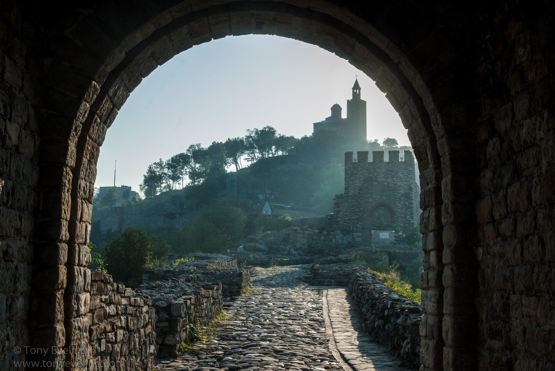 Dawn photo, taken in the Golden Hour of Tsarevets fortress in Veliko Tarnovo, Bulgaria