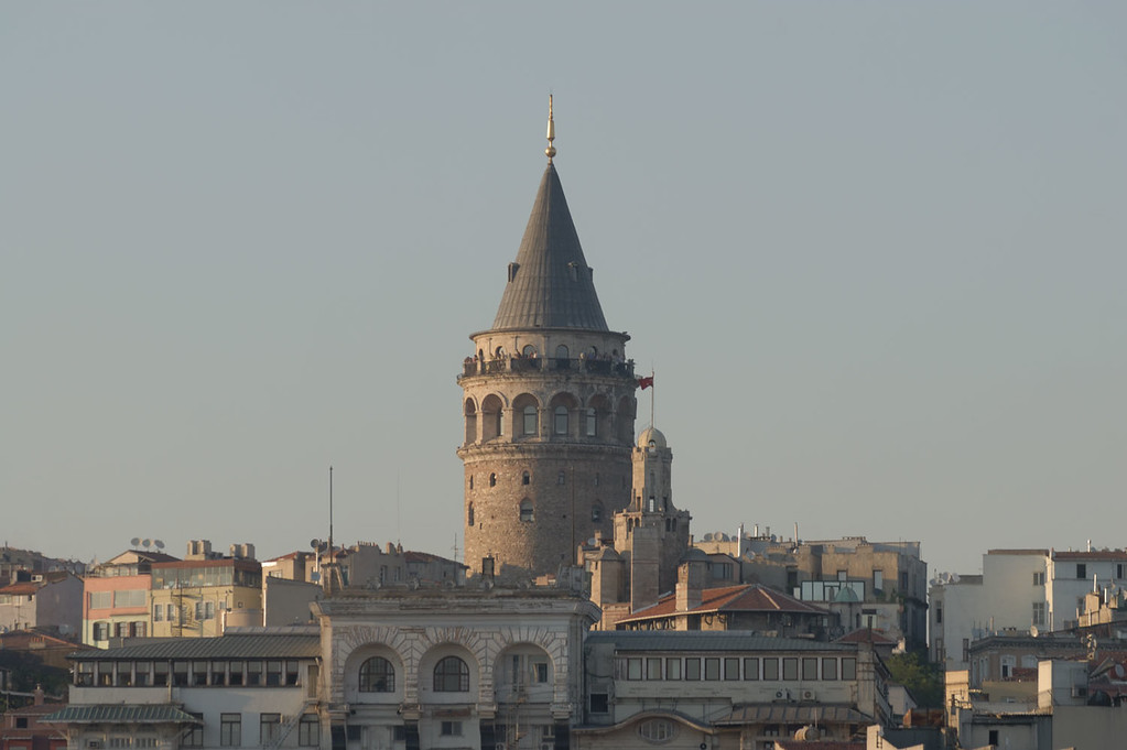 Example of a photograph before any post processing is applied. Galata Tower, Istanbul, Turkey