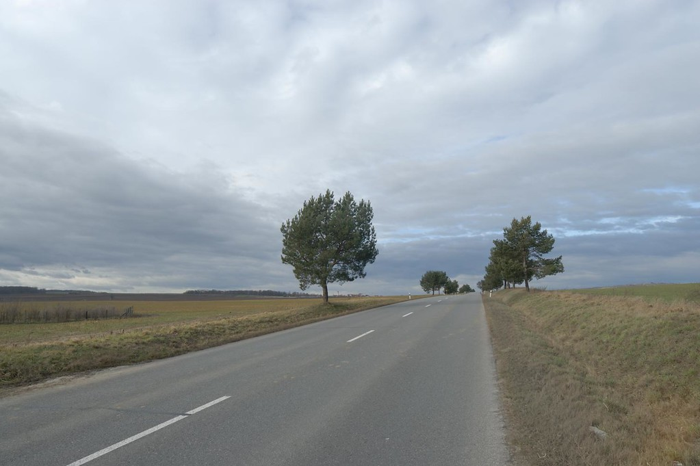Example of a photograph taken without any post processing yet applied. Road through the countryside in Czech Republic.