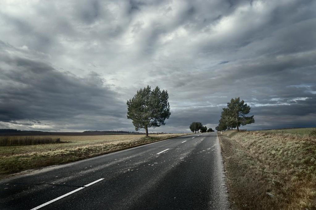 Road in the countryside in Czech Republic.