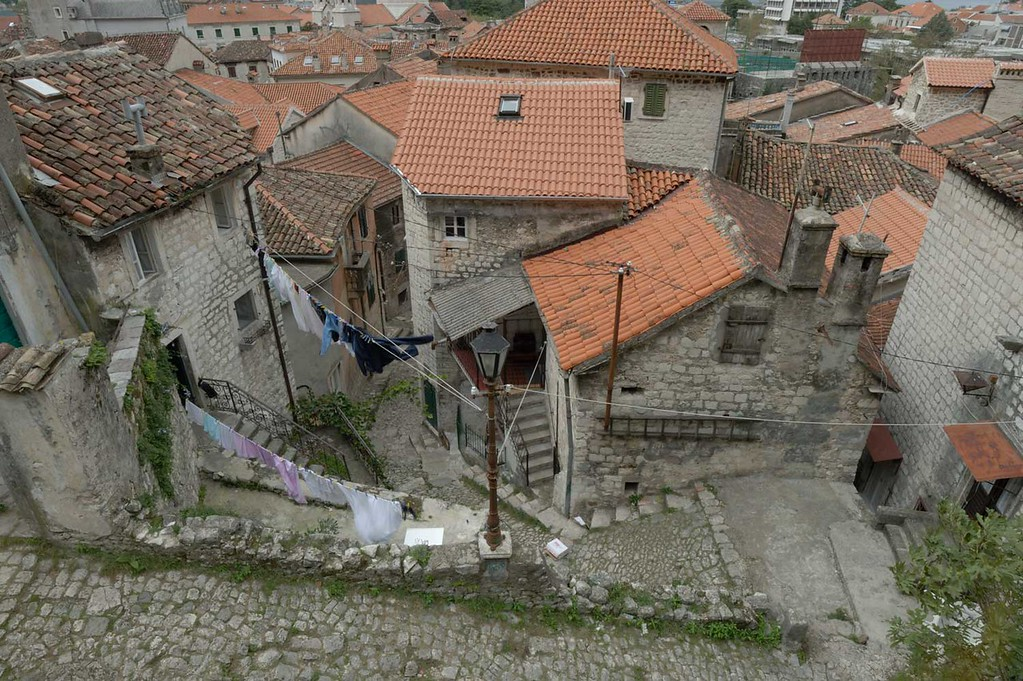 Example of an image before any post processing has been applied. Kotor old town, Montenegro.