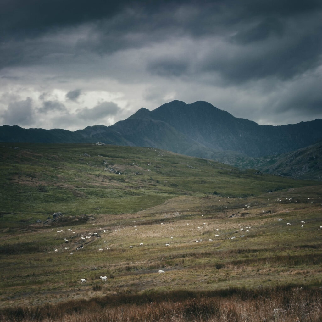 Moody landscape photograph.  Moel Siabod, Wales, UK