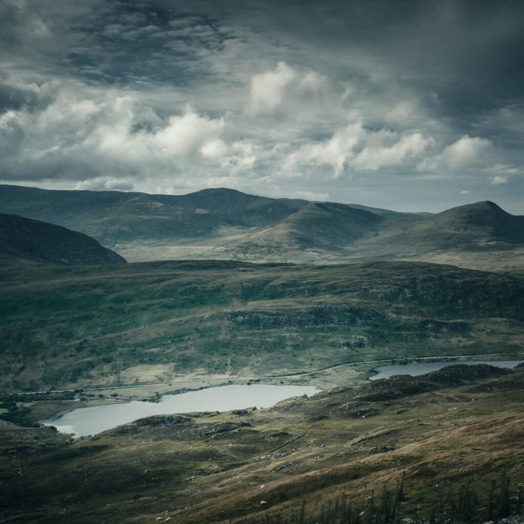 Moody landscape photograph. Processed in Lightroom with added filters, published on Instagram.