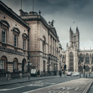 Urban landscape photography. Bath city. Processed in Lightroom with added filters.